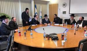 """נציגי אגודת ישראל, בישיבה עם יו""""ר התנועה"""