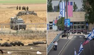 """שגרירות ארה""""ב בירושלים וההיערכות מול עזה - בירושלים - חגיגות; בעזה - מתיחות ביטחונית"""