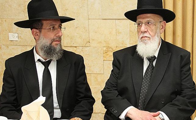 הרב יעקב כהן עם אביו נשיא המועצת