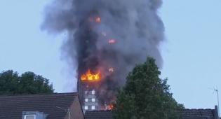 השריפה בלונדון - לונדון: 600 בנייני מגורים בסכנת שריפה