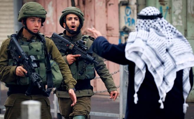 עימותים בין חיילים ופלסטינים בגדה המערבית