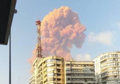לבנון: פיצוץ עז נשמע; שריפה בנמל ביירות