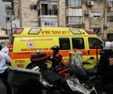"""תאונה בירושלים. ארכיון - ר""""מ במיר החליק מהגשם ונפגע מאוטובוס"""
