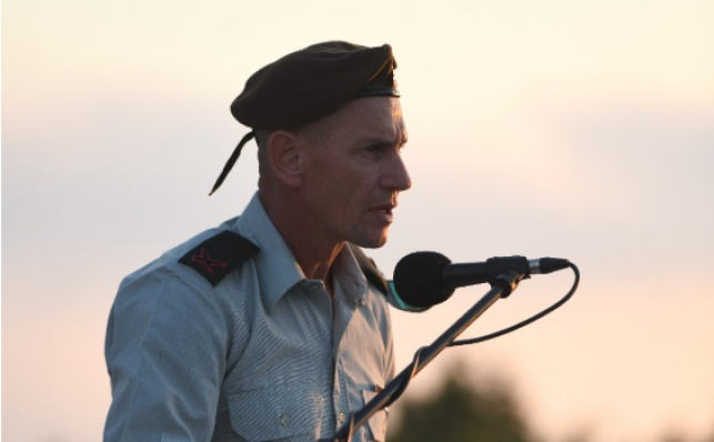 מילוא בטקס סיום תפקידו בעוצבת הגליל