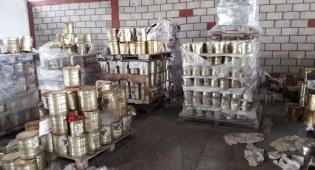 12 טון של קופסאות שימורים הוחרמו בחצור