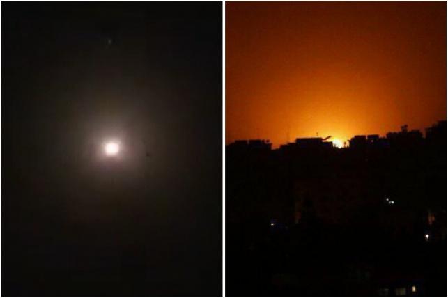 התקיפות בעזה בסוריה