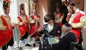 פורים - בחצר הקודש 'שאץ ויז'ניץ' שבחיפה