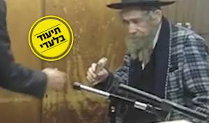 הרב שטיינמן מעניק את כספו האישי