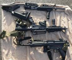 השוטרים מצאו נשק שהוברח במטרה לפגע
