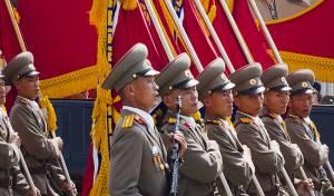 מצעד צבאי בפיונגיאנג. ארכיון