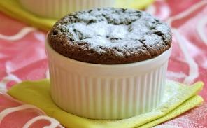 קינוח פרווה איכותי: מתכון לסופלה שוקולד חם