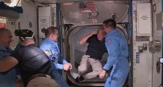 קבלת הפנים בתחנת החלל