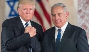 טראמפ בביקורו בישראל