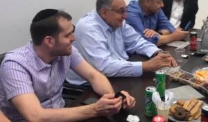 מנכ״ל הדסה וצוותו בפגישה