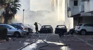 שני פצועים בפיצוץ רכב בחניון בניין באשדוד