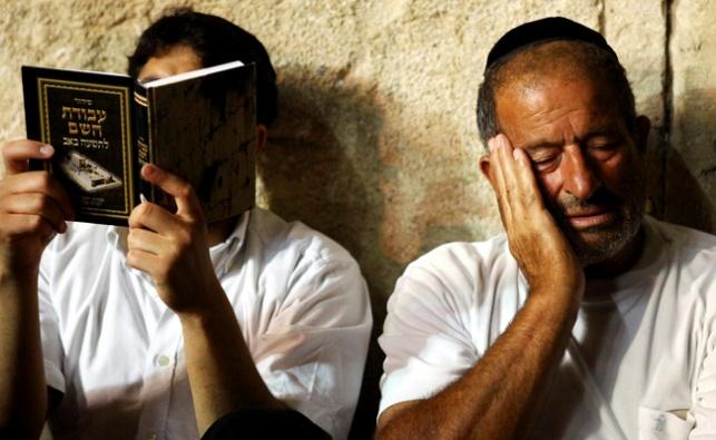 אמירת קינות בתשעה באב, בשריד בית המקדש - הכותל המערבי