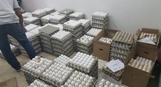 אלפי ביצים נתפסו במחסן בבני ברק ויושמדו
