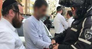 מעצר החשוד - איים לדקור את הרב אמנון יצחק ונעצר