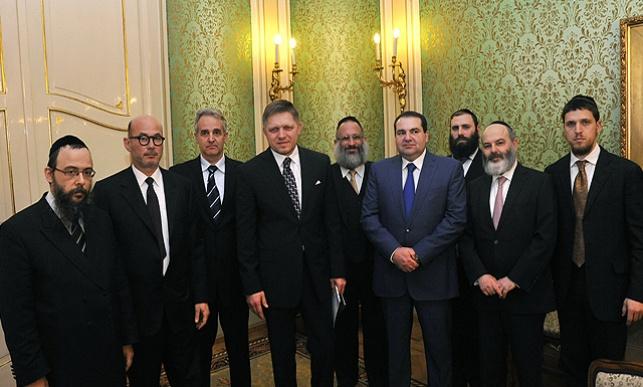 המשלחת עם ראש ממשלת סלובקיה