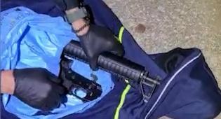 הרובה והתחמושת הוחבאו לרגלי הפעוטות