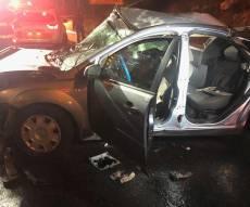 הרכב שנפגע בתאונה