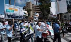 נהגי האוטובוסים הפגינו על האלימות נגדם