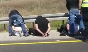 דרמטי: מעצר של חשוד כמחבל בצד הכביש