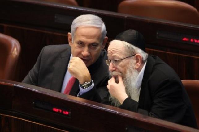 יעקב ליצמן וראש הממשלה בנימין נתניהו