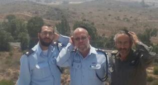 הרב הראשי למשטרה הרב משה גפני בסמוך לגבול הרצועה - רב המשטרה חיזק את שוטרי הדרום