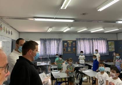 ראש העיר רמי גרינברג בחיידר 'ברכת יעקב', הבוקר