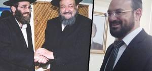 """יצחק רביץ לצד אביו זצ""""ל וח""""כ משה גפני"""