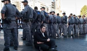 מתוך ההפגנה השבוע, למצולמים אין קשר לכתבה