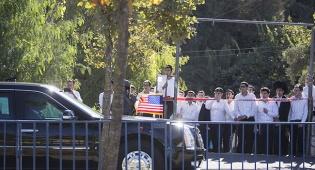 הלימוזינה המשוריינת של הנשיא בביקורו של אובמה