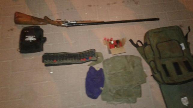 חלק מהנשק שנמצא