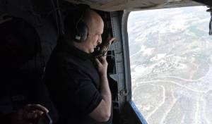 בנט טס מעל מוקדי השריפה והודה לטייסים