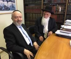 """הרב מלכה עם הרב יעקבי, הבוקר - המנכ""""ל הנכנס סייר עם המנכ""""ל היוצא • צפו"""