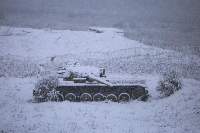 תיעוד: השלג הראשון השנה ברמת הגולן