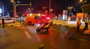 זירת התאונה הערב