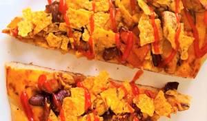 פיצה בשרית בסגנון מקסיקני