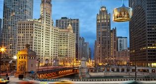 סקייליין. הרכבל העתידני של שיקגו - יש לכם אומץ לרחף בתא שקוף מעל שיקגו?