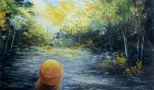 היצירה ילדה בגשר. שרה ויצמן. - הכרות עם האמנית והציירת שרה ויצמן