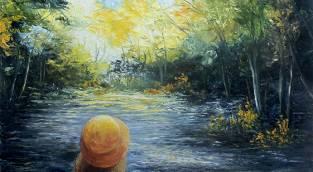 היצירה ילדה בגשר. שרה ויצמן.