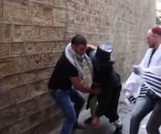 אילוסטרציה. מתוך סרטון הסתה פלסטיני - אישום נגד ערבים שתקפו מתפלל עם טלית