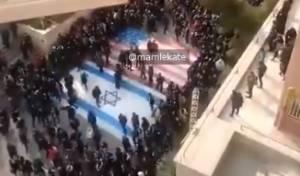 צפו: מפגינים באירן לא עולים על דגל ישראל