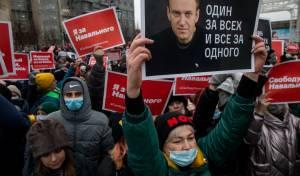 """יחדלו מפעילות בשל החלטת הממשל? הפגנה למען יו""""ר האופוזיציה נבלני"""
