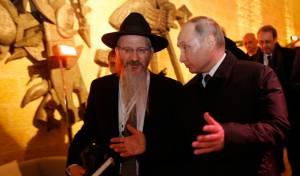 הנשיא פוטין עם הרב לאזאר
