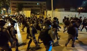 מאות שוטרים, רימונים ואלימות הזויה וקשה