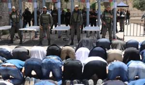 המוסלמים באים להתפלל על ההר ונתקלים בעמדות הבידוק החדשות - והקלטה מתוך הקשר המשטרתי