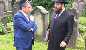 הרב טייכטל עם שר החוץ הגרמני
