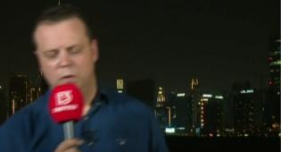 הכתב הישראלי התמוטט בדובאי בשידור חי
